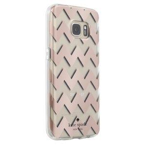 Kate Spade Samsung Galaxy 7 rose gold chevron case